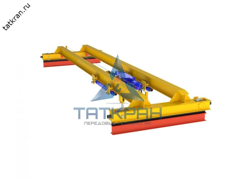 Кран мостовой электрический опорный двухбалочный с подвесной тележкой (кран-балка опорная)