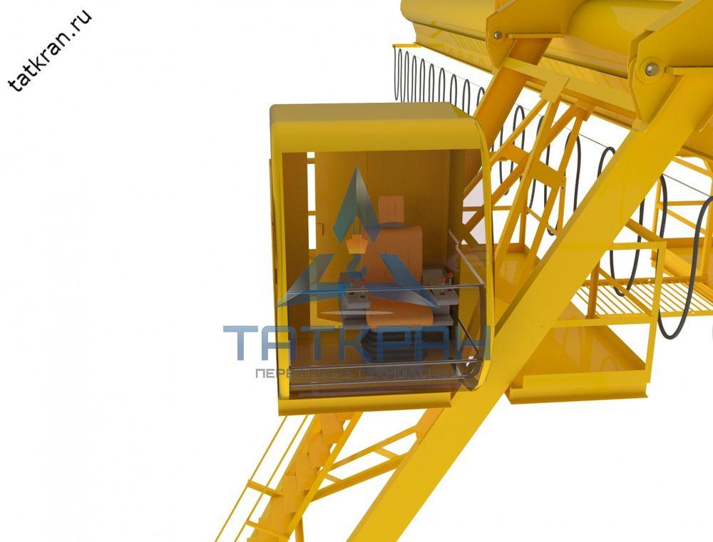 Кран козловой электрический однобалочный трубчатый с кабиной управления (ККТ-к)