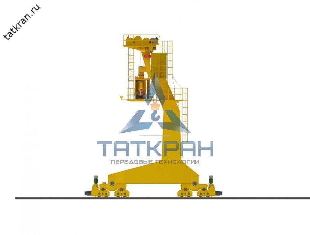 Кран козловой электрический однобалочный коробчатого сечения с кабиной управления (КК1К)