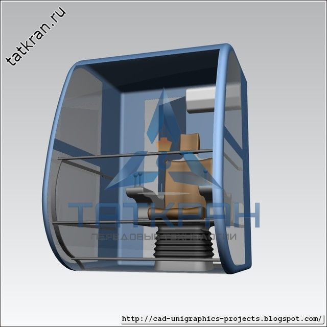 Крановая кабина управления с кресло-пультом