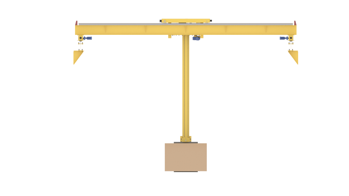 Кран-штабелер с рулонным захватом