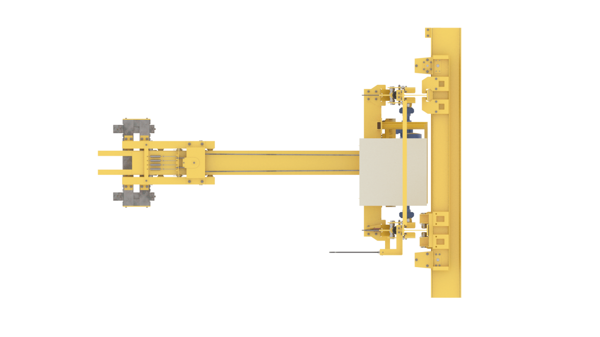 Кран-штабелер подвесной с подвесной тележкой
