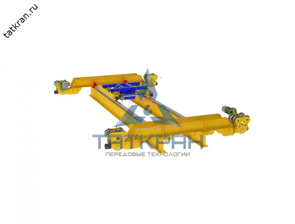 Кран мостовой электрический подвесной двухбалочный с опорной тележкой