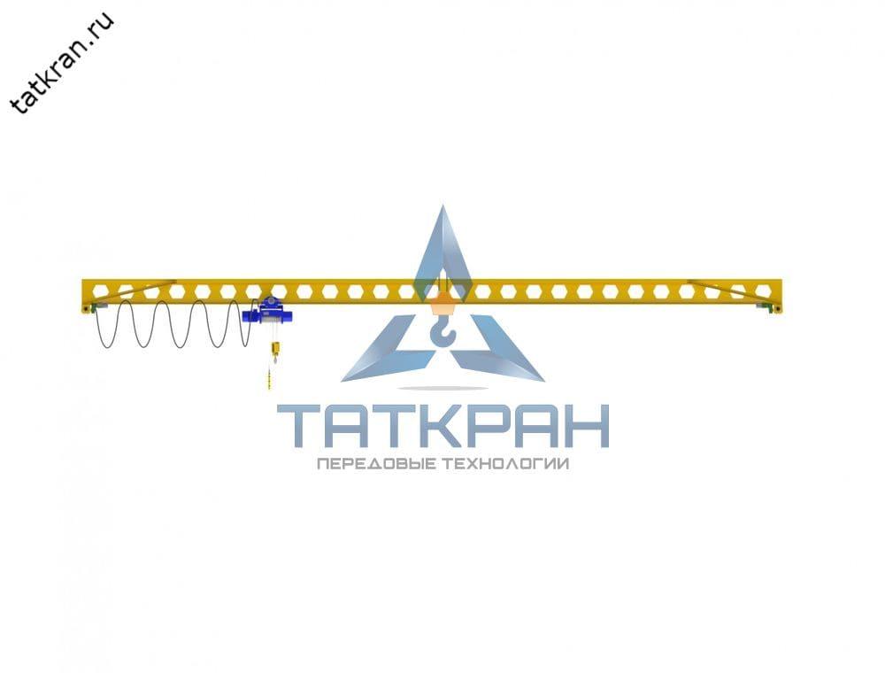 Кран мостовой электрический опорный однобалочный с перфорированной балкой (кран-балка опорная)