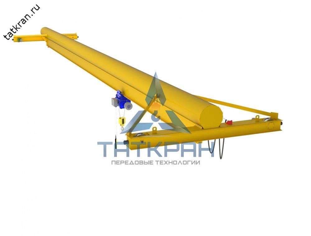 Кран мостовой электрический опорный однобалочный с трубчатой балкой (кран-балка опорная)