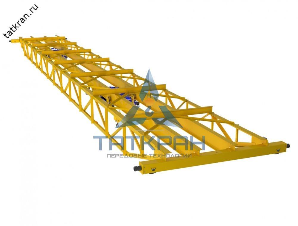 Кран мостовой электрический опорный с фермной конструкцией пролетной балки (кран-балка опорная фермная)